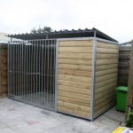 Kennel model Lago 3x1,5 meter deur links